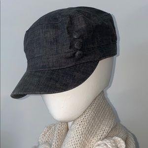 Anthropologie Grey Engineer 3 Button Hat